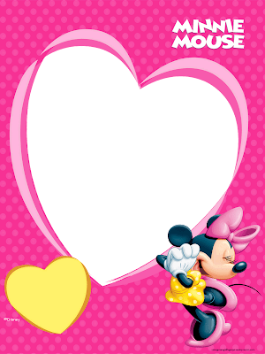Printable minnie frames