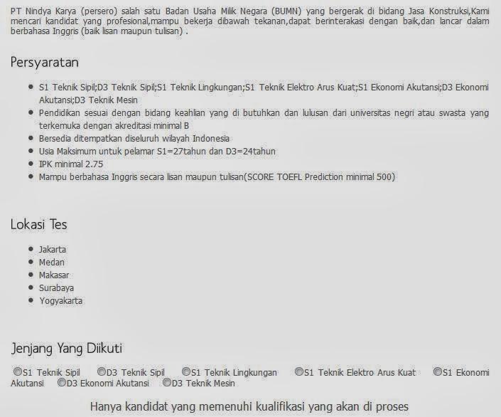 berminat dengan lowongan kerja terbaru BUMN Surabaya Februari 2014 ...