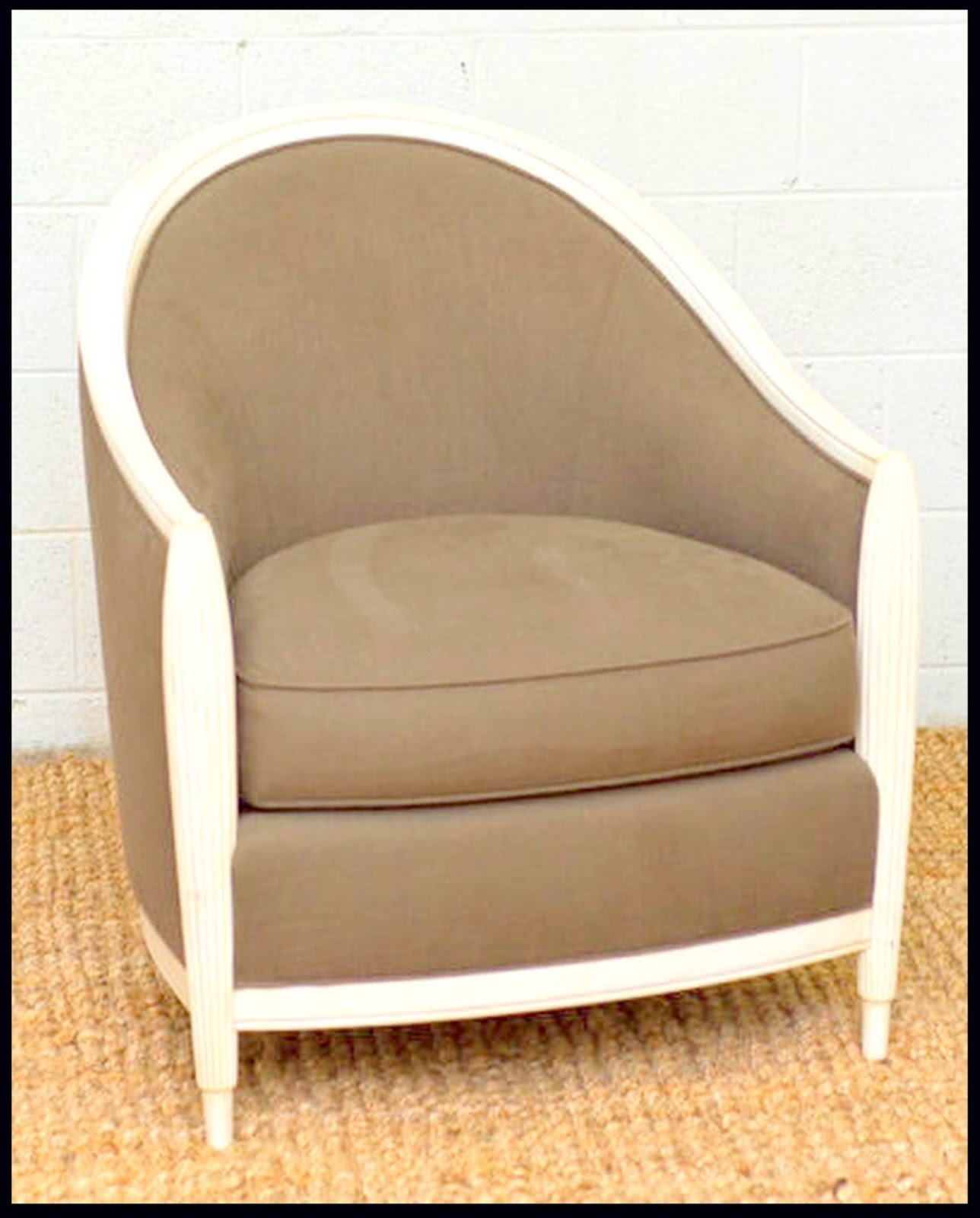 Thomasville Bogart Luxe Collection Ingrid Upholstered Barrel Chair, US  $799. Located In Trinity, North Caroline. Please Click On Link For More  Information.