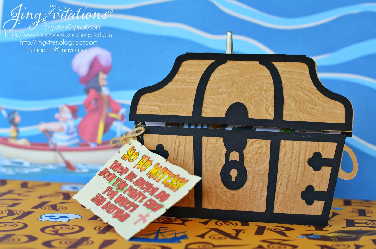 Birthday and Baby Shower Invitations: Jake and the Neverland Pirate ...