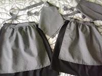 conjunto de falda, pañuelo y mandil de pixuetas