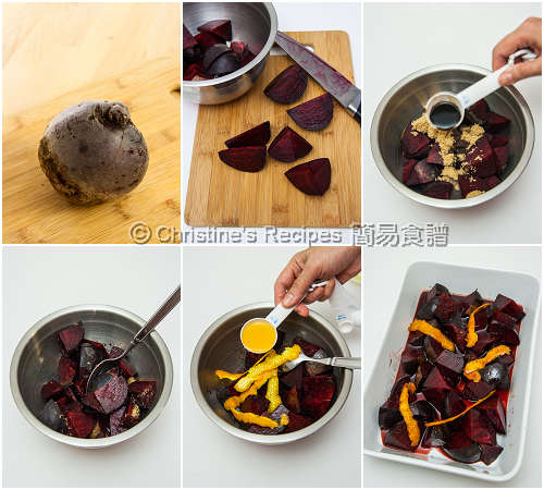 烤黑醋橙汁紅菜頭製作圖 How To Make Roasted Balsamic Beetroot with Orange Juice