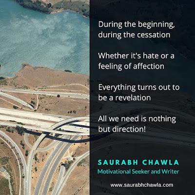 all we need is direction in life poem by saurabh chawla