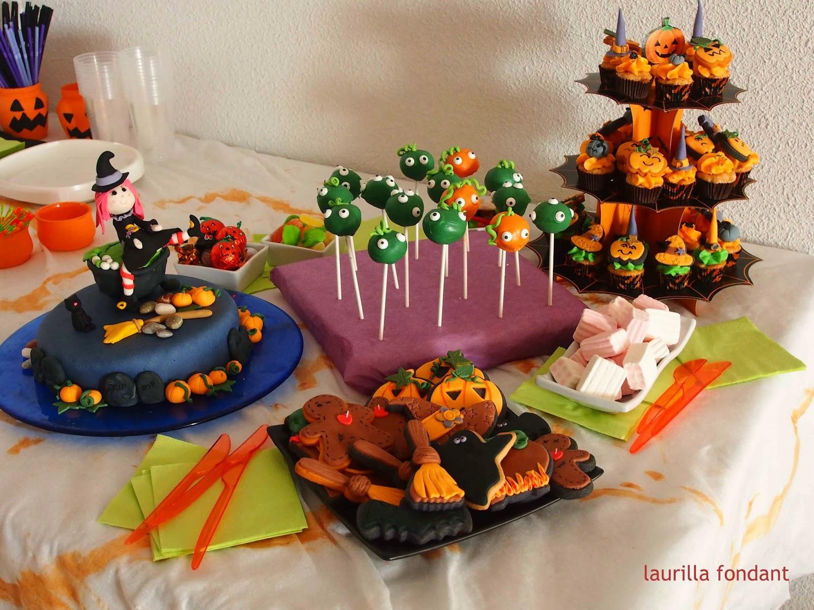 Laurilla fondant mesa dulce de halloween 2012 for Decoracion mesa halloween