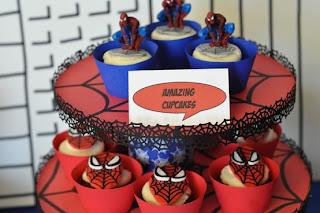 Cupcake - Decoração de festa Infantil do Homem Aranha