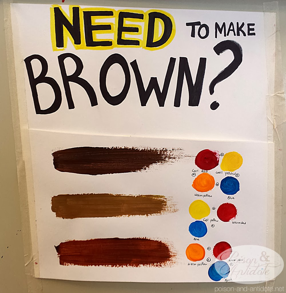 how to mix brown