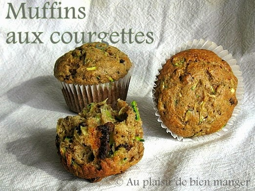 au plaisir de bien manger muffins aux courgettes. Black Bedroom Furniture Sets. Home Design Ideas