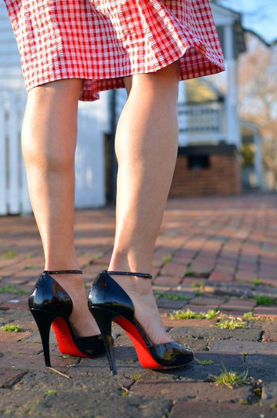 Louboutin ankle strap heels