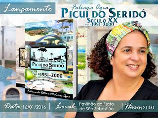 Fabiana Agra lança Livro Picuí do Seridó neste sábado (16)