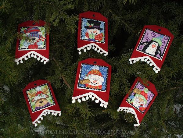 """Вышивка фирмы """"Dimensions""""- """"Christmas Pals Ornaments""""/""""Рождественские друзья"""" - украшение на ёлку - гирлянда-растяжка"""