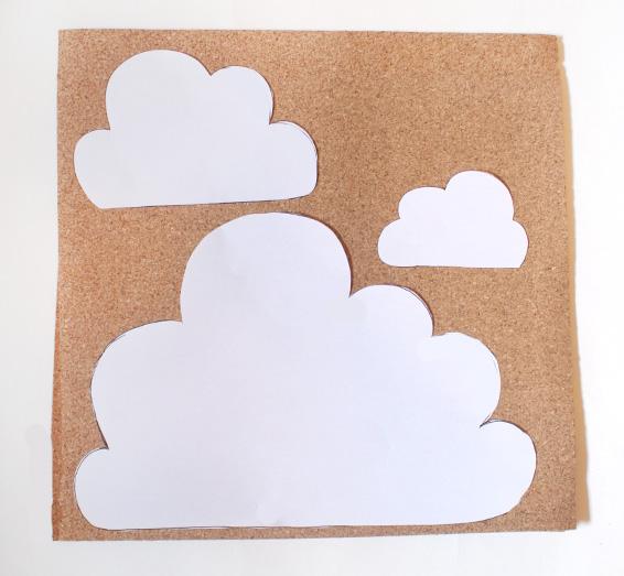 Vivid please diy how to make a cork cloud notice board for Creative notice board