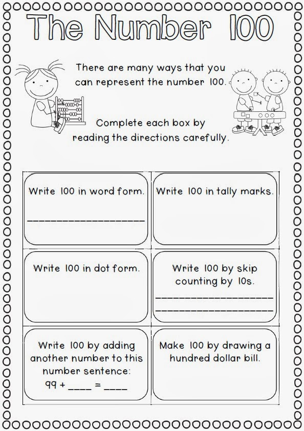 math worksheet : valentine s day and 100 days of school combo and giveaway winners  : 100 Days Of School Math Worksheets