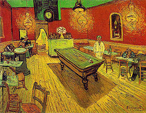 "Picture of ""The Night Cafe"" by Vincent van Gogh, 1888"