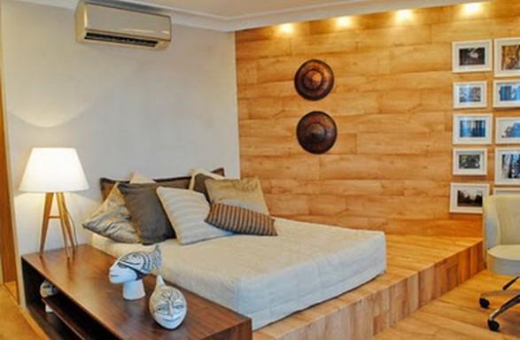 Muebles de madera de cedro para dormitorio en colores for Dormitorio blanco y madera