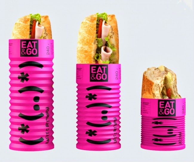 Folding packaging for sandwiches