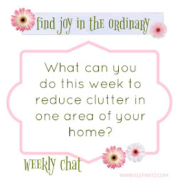 "This week's ""joy in the ordinary"" chat"