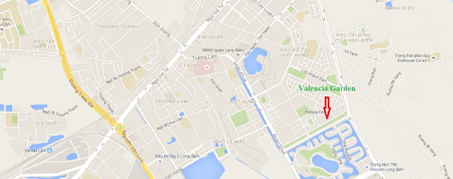 Vị trí chung cư Valencia Garden Long Biên