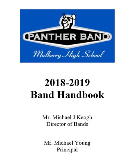 Band Handbook 2018-19