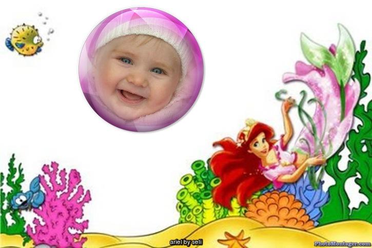 Fotomotajes Infantiles - Sirenita | Fotomontajes Infantiles