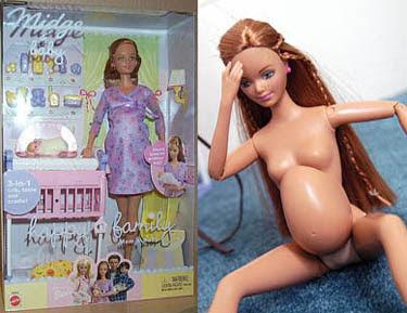 Fotos da Boneca Barbie Grávida