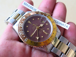 ROLEX GMT MASTER ROOTBEER TWO TONE - NIPPLE DIAL - ROLEX 1675 ROOTBEER TWO TONE - LIGHT FADED BEZEL