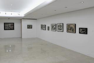 Sala 3 Galería Ascaso. Oswaldo Vigas Constructivista 2013 . Fotografía Gladys Calzadilla