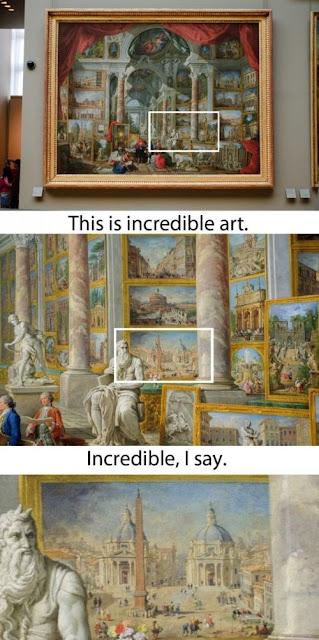 Inception Kunst: Galerie der Ansichten des modernen Rom