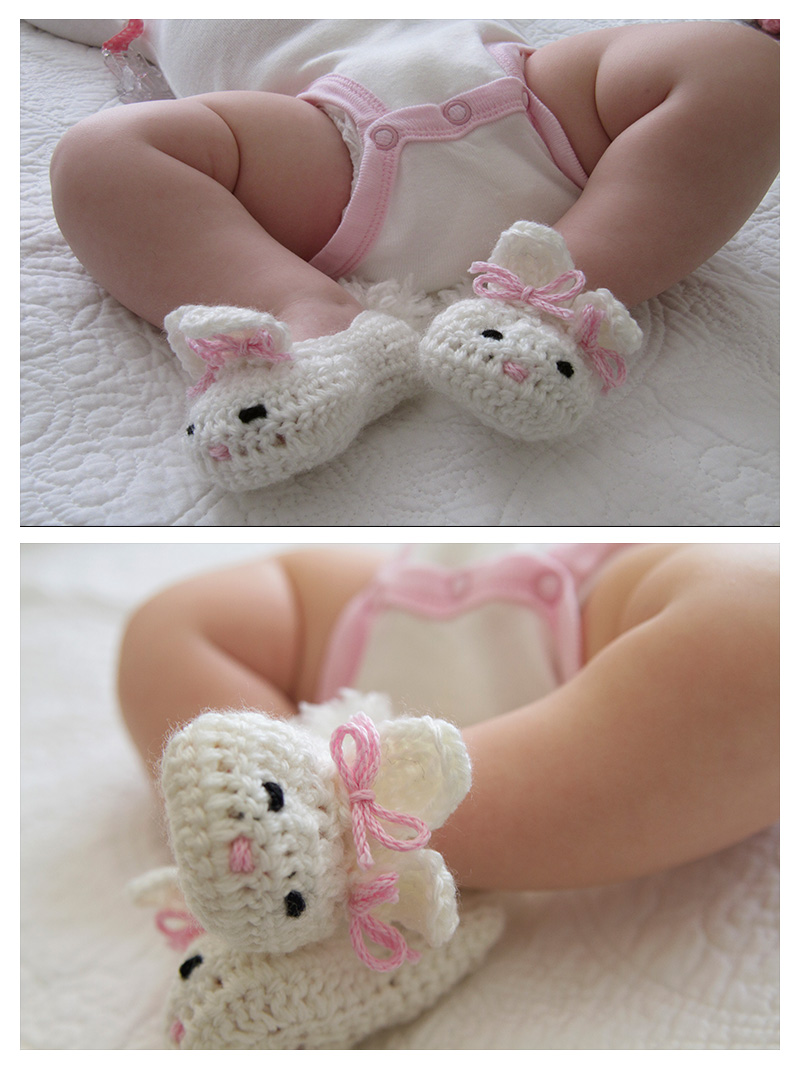 Crochet Bunny Baby Booties Pattern : Baby Bunny Booties Cake Ideas and Designs