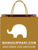 mama elephant stamps