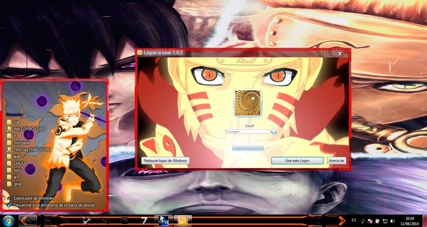 [ Theme Win 7 ] Naruto Shippuden 4