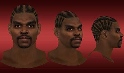 NBA 2K13 Andrew Bynum Cyberface w/ Cornrows