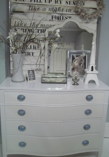 Hepplewhite, dresser, painted, white,