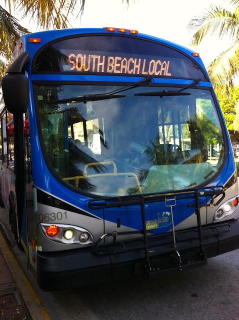 Ônibus em Miami Beach