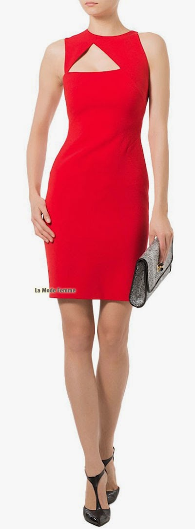Versace sublime la robe fourreau courte rouge
