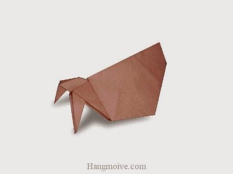 Cách gấp, xếp con cua ẩn dật bằng giấy origami - Video hướng dẫn xếp hình sinh vật dưới nước - How to fold a Hermit Crab