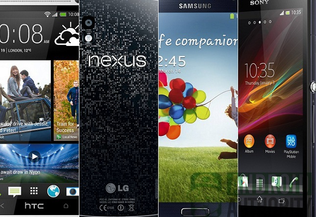 four-top-of-the-line-android-smartphones-from-back-and-front