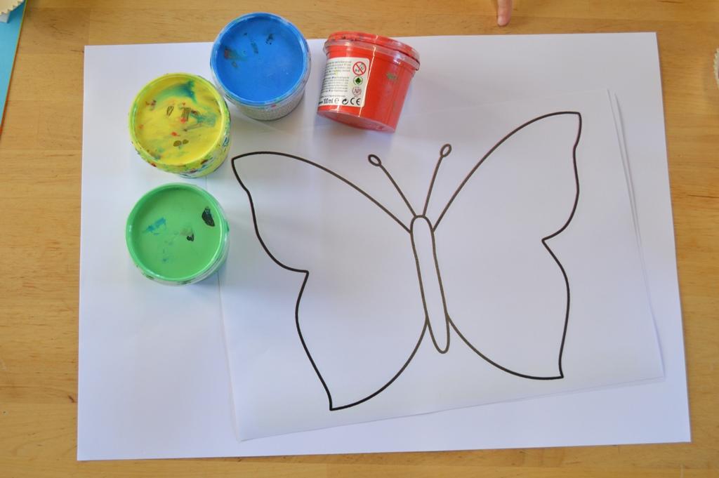 Como pintar una mariposa como dibujar y colorear una - Como hacer mariposas de papel ...