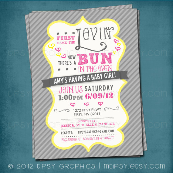 amy grant baby shower bun in the oven theme