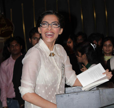 sonam at khalid mohammed book launch cute stills