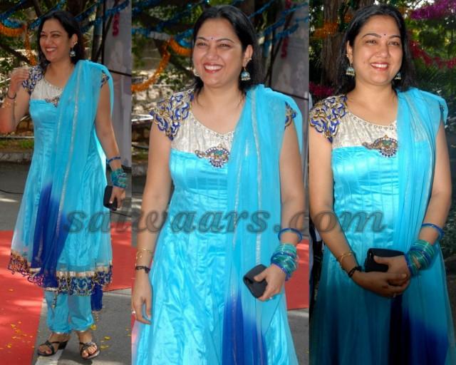 Hema Sky Blue Salwar Kameez Indian Dresses