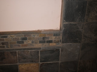 Design Strip Slate Meets Shower Wall Slate