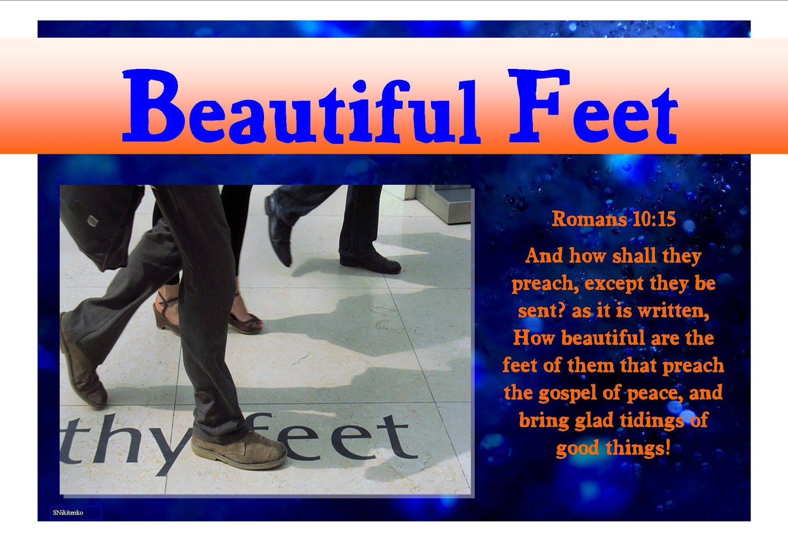 Bible Beautiful Feet Beautiful Feet Gospel Bible