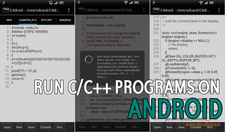 Run c/c++ programs on android