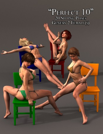 'Perfect 10' Sitting Poses for Genesis 2 Female(s)