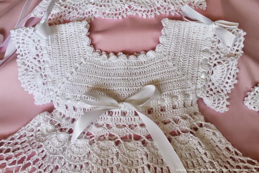 Increíble Vestido De Crochet Para El Patrón Libre De Chica Modelo ...
