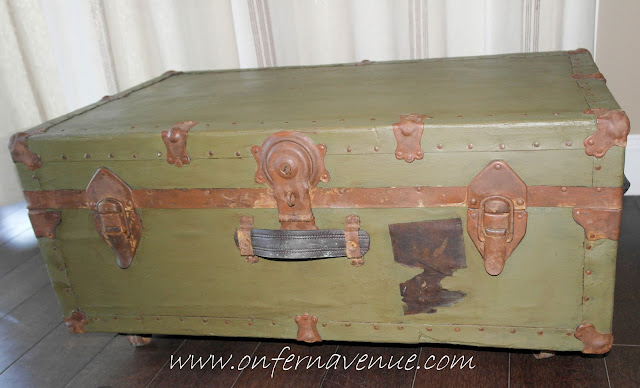 Fern Avenue Blog WWII Navy Trunk