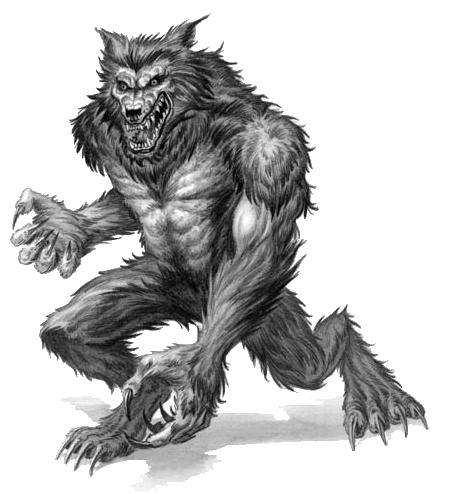 werewolf clipart 060911 vector