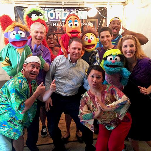 That's me with some of the Avenue Q cast! | Horizon Theatre (in Piedmont Park)