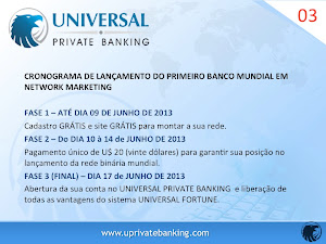 LANÇAMENTO DO PRIMEIRO PRIVATE BANKING MUNDIAL EM NETWORK MARKETING