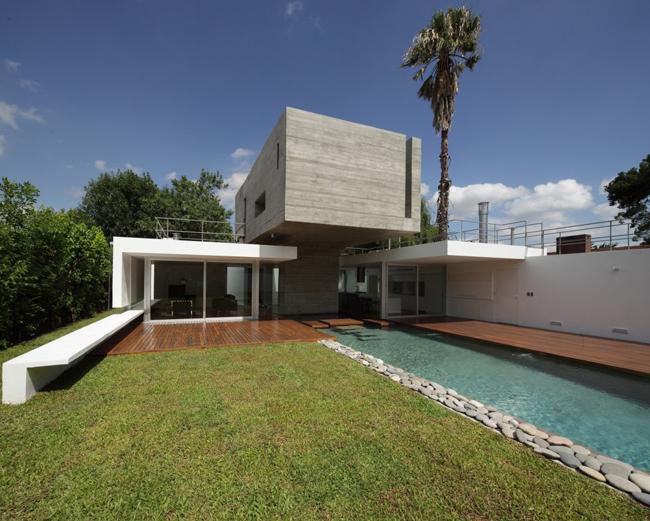 Casas minimalistas y modernas casa bunker moderna for Casa moderna argentina